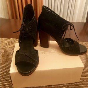 Black 1. State tie up bootie heels.